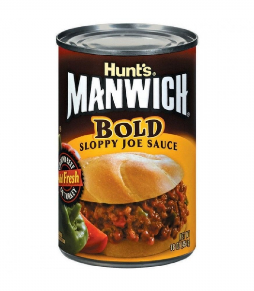 Hunts Manwich Bold Sloppy Joe Sauce 16oz (454g